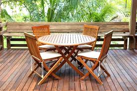 pleasing ideas teak wood patio set and idea furniture for cleaning sealing outdoor