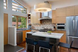 furnitures kitchen decor idea with l shaped white kitchen counter and small kitchen island with