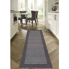 checd brown or cream extra long runner rugs