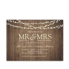 String Of Lights Rustic Wedding Invitation Rustic Wedding Rehearsal Dinner Invitation Barn Wood String