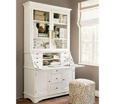 White desk with hutch Long Pottery Barn Graham Desk Hutch Pottery Barn