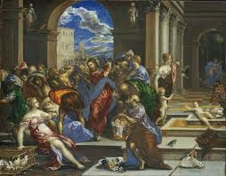 el greco expulsion of merchants from the temple not later than 1570