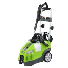 greenworks cold water electric pressure washer at lowe s blast away dirt and grime quickly and quietly with this greenworks electric pressure washer