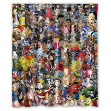 Watch anime online in high 1080p quality with english subtitles. Best New Anime Collage Character Custom Print Waterproof Fabric Shower Curtain Ebay