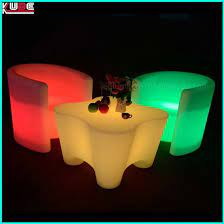 led light up dice stool garden