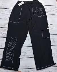 Zumba Wear Pants Classic Cargo Size Xxl Black Mz8 Pockets