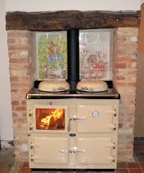 Aga Kitchen Appliances Cream Wood Wood Fired Burning Aga Kitchen Cooking Inspiration