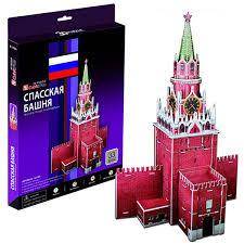 Купить 3D пазл <b>Cubicfun Спасская башня</b> (Россия) C118h в ...