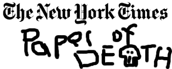 New York Times Logo Paper of Death – Big Pulpit