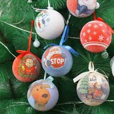 7cm foam upscale Christmas balls Indian painting painted Christmas tree  ornaments Christmas balls painted Figure