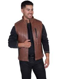 black italian lamb 70 details two tone leather vest