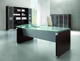 metal and glass office desk large glass desk