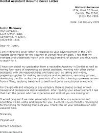 Sample Assistant Resume Cover Letter Cover Letter For A Dental