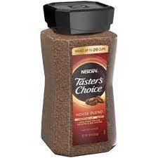 Add 8 oz/ 226 g of nescafé taster's choice coffee to 4.0 gal of water. Nescafe Taster S Choice House Blend Instant Coffee 14 Oz Sam S Club
