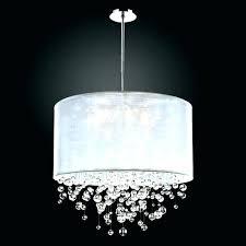 elegant crystal drum shade chandelier for medium size of endearing silver mist
