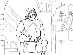 Disegno Di Il Cacciatore Nel Castello Da Colorare Disegni Da