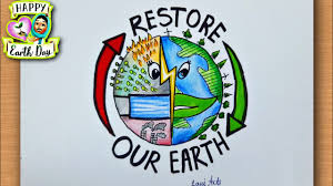 earth day 2021 theme drawing / earth day 2021 drawing / earth day 2021  restore our earth drawing - YouTube