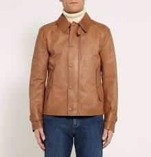 coats jackets uk mens ralph lauren purple label tan woodhull leather jacket