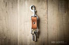 leather keychain fob