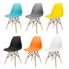 1 or <b>4 pcs</b> Retro Eiffel Style Dining <b>Chairs</b> Lounge Office Cafe <b>Chair</b> ...