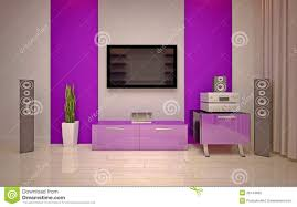 Purple Decorations For Living Room Interior Design Modern Living Room Royalty Free Stock Photo