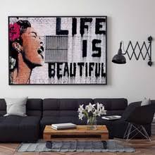 Граффити, <b>Постер в</b> стиле банкси, <b>Картина</b> на холсте ...