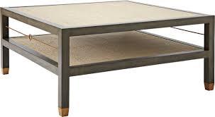 ebonized grey cabot square coffee table