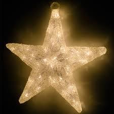 Sanifri Home Beleuchteter Weihnachtsstern 60 Led 40cm Warm Weiß