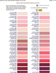 Robison Anton Super Brite Polyester Color Chart Pdf Free