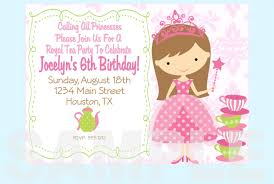 tea party invitations free template free printable princess tea party invitations templates
