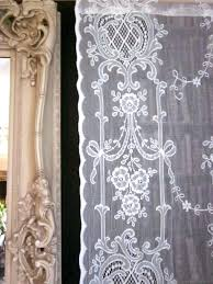vintage lace curtains panels antique lace curtains panels highland rose olivia victorian c1895 style white cotton