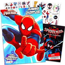 ♘ now, i am going to show you spiderman coloring book video. Amazon Com Marvel Spiderman Coloring Book Bundle With Over 300 Bonus Spiderman Stickers Toys Games