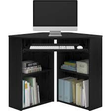 image corner computer. Mainstays Corner Desk With Keyboard Tray And Shelves, Black - Walmart.com Image Computer