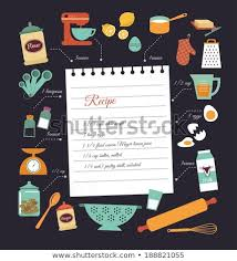Food Recipe Template Chalkboard Meal Recipe Template Vector Design Stock Vector Royalty