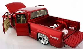 Chevy Silverado Pickup Truck, Red - Jada Toys Dub City 63112 - 1/18 ...