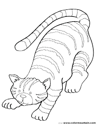 Wonderful Christmas Cat Coloring Pages Remarkable Coloring Pages