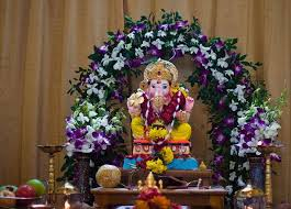 if you are looking for florist for home decoration of ganpati
