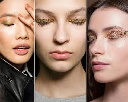 fall winter 2016 2016 makeup trends glittery metallic eye makeup2