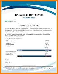 12 Salary Certificate Format Colonialneighbours Com