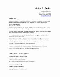 Teacher Assistant Resume With No Experience Awesome Child Care