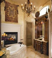 view in gallery traditional bathroom featuring a fireplace