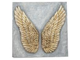 angel wing wall sculpture golden