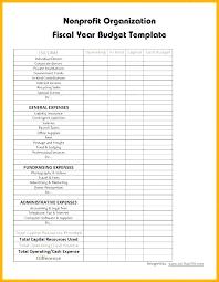 Sample Budget For Non Profit Organization Non Profit Budget Template Ofit Excel Sample Organization