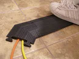office cable protector. Floor Wire Cover Wood Office Cable Protector