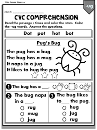 Cvc words consist of a consonant followed by a vowel and then another consonant sound. Phonics Worksheets Cvc Comprehension Readers Kindergarten Math Puzzles And Answers Early Comprehension Worksheets Worksheets Free Primary Worksheets Ccss Math Grade 5 In A Math Problem Addition And Subtraction Are Multiplication Games Free