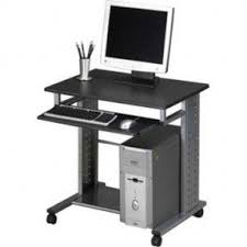 NEW Compact Workstation on Wheels Computer Desk with Slide Out Keyboard Tray