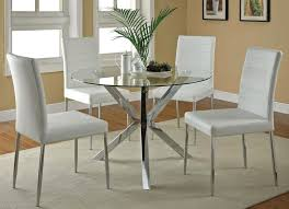 Elegant Round Glass Dining Room Table with Round Glass Dining Room Table  And 4 Chairs Starrkingschool ...