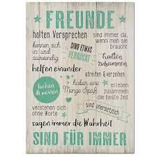 Holz Hängetafel Freunde 50 X 36 Cm Wandbild Weisheiten Sprüche
