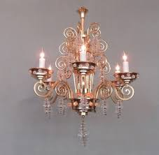 an early 20th century french art deco bronze chandelier circa 1920 by famous glass