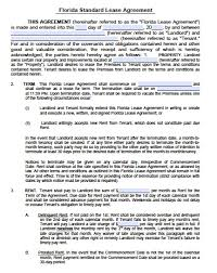 Sample Apartment Lease Agreement Free Florida Residential Lease Agreement PDF Word Doc 22